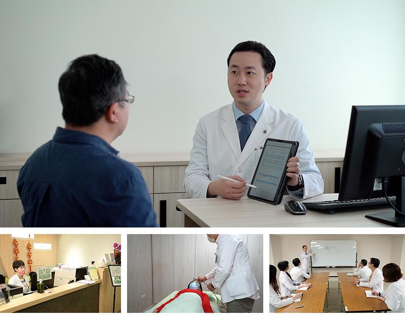醫師與患者溝通病情內容以及後續治療規劃