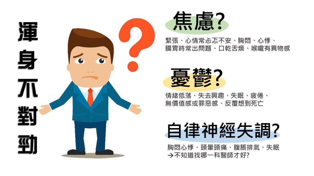 身體不對勁,到底是焦慮、憂鬱還是自律神經失調?