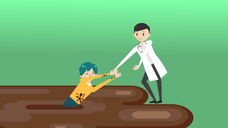 正確的治療方式 好好聽醫師的話 就能讓醫師拉你一把而脫困