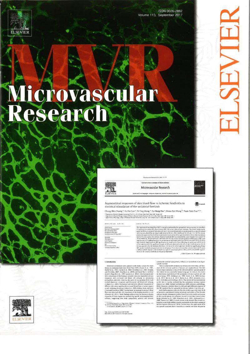 拉菲爾研發團隊2017年發表在最具影響力的國際醫學期刊Microvascular Research科學實驗證實,透過刺激特定的神經點位,能調控特定部位的血流循環